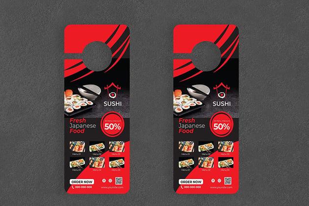 Sushi Door Hanger Creative Promotion