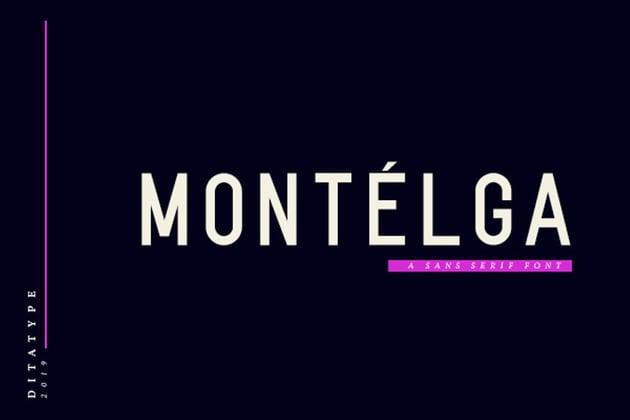 Montelga-Sans Serif Font
