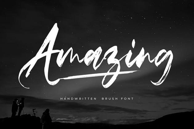Amazing - Handwritten Brush Font