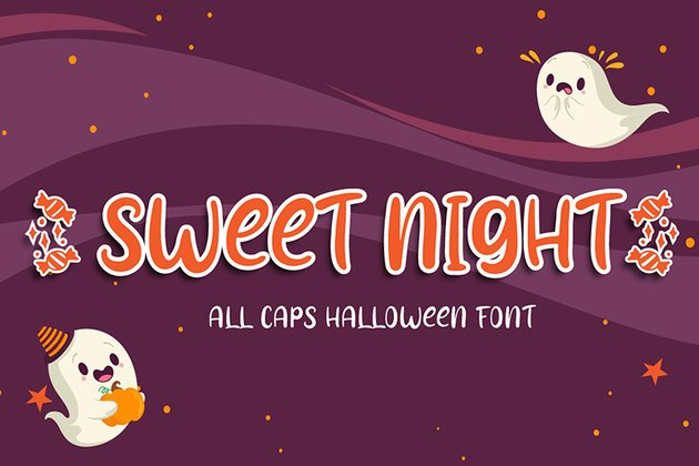 Sweet Night - Halloween Font