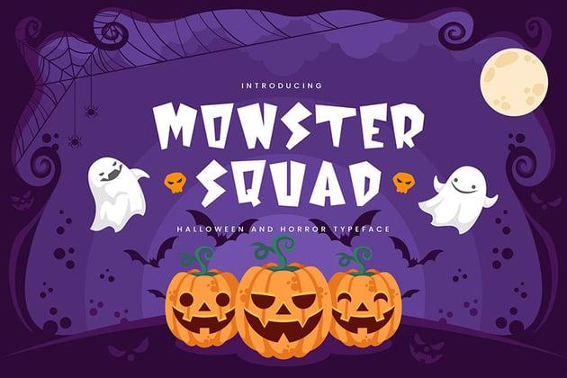 Monster Squad - Fun Halloween Typeface