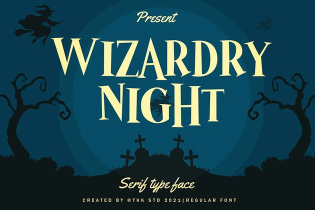 Wizardry Night - Mystery Movie Font
