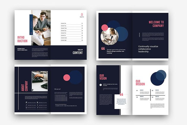 creative business report template