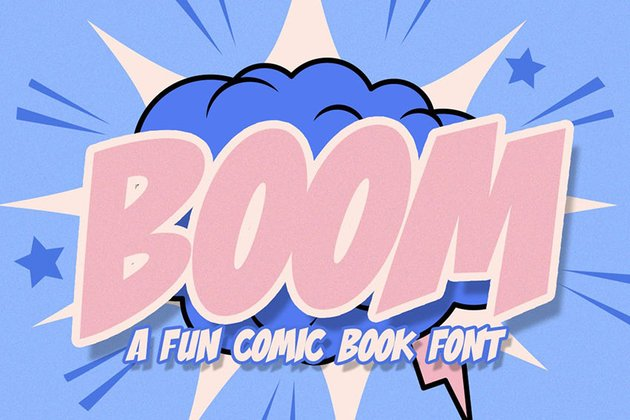 Boom Comic Font