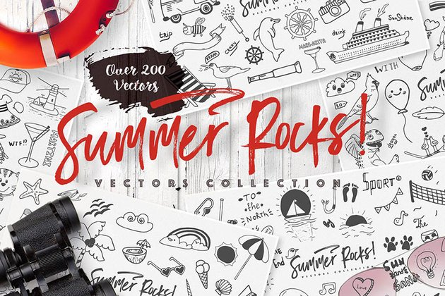 Summer Rocks: Vectors Collection