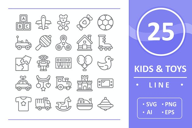 25 Kids and Toys - Line