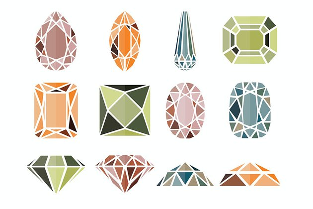 12 Diamond Icons