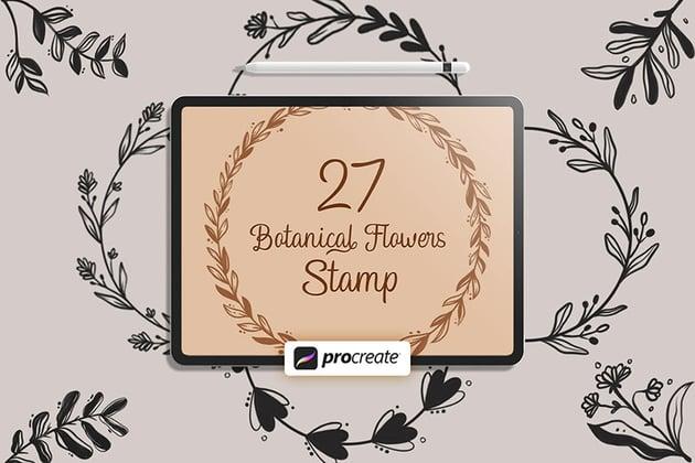 Procreate - Floral V.1 Stamps