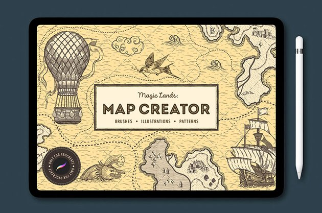 Map Procreate Brushes