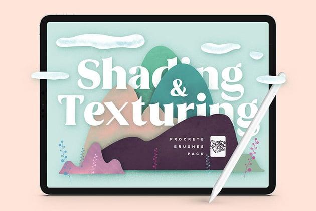 Shading and Texture Procreate Brushes