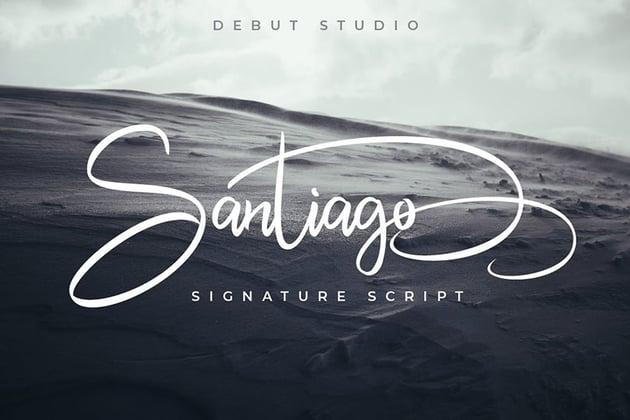 Santiago Script Font