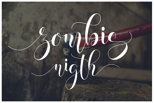 Zombis Night Font