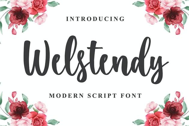 Welstendy - Modern Calligraphy Font