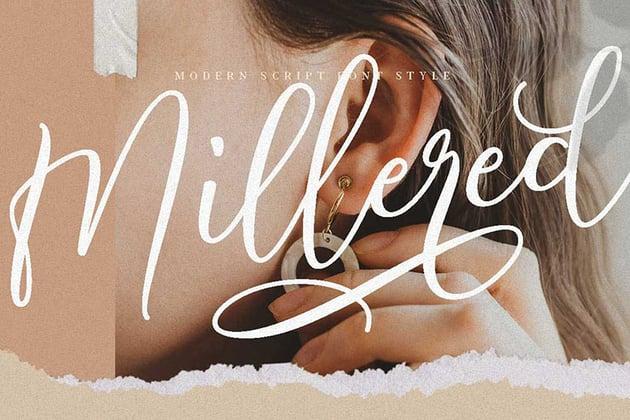 Millered | Beauty Font Elegant