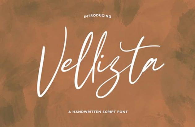 Vellizta Handwritten Script Font