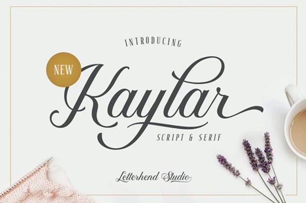 Kaylar - Elegant Script & Serif