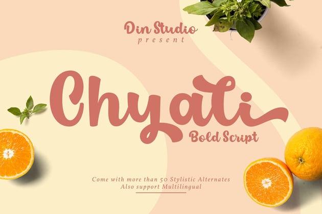 Chyali - Bold Script Font