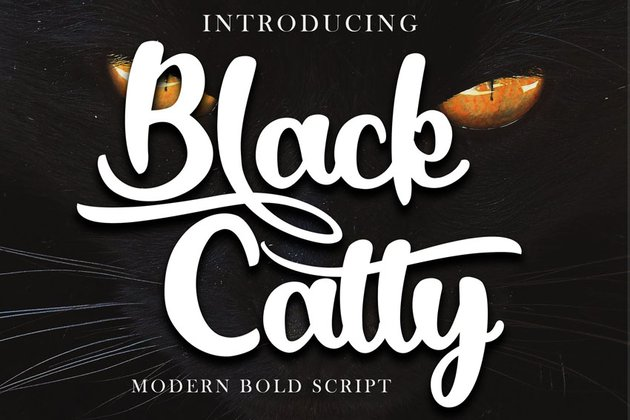 Black Catty Bold Script