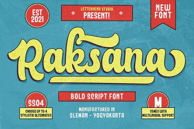 Raksana - Retro Bold Script