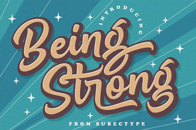 Being Strong Font