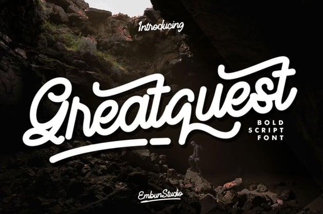 Greatquest bold script