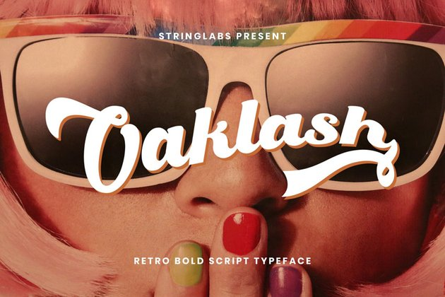 Oaklash - Retro Bold Script Font