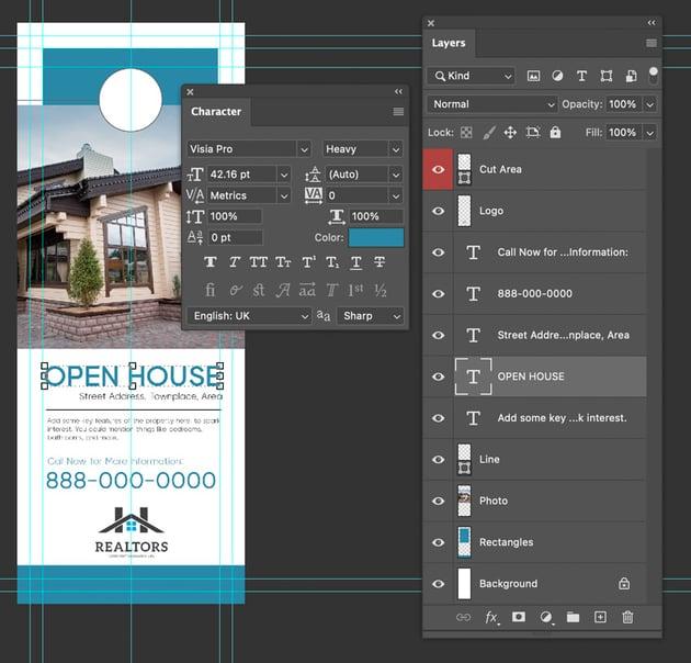 photoshop door hanger design template