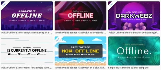 twitch offline video banner