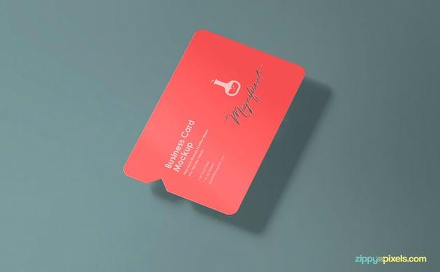 Die cut business card free