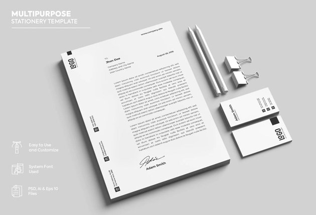 minimalist stationery design