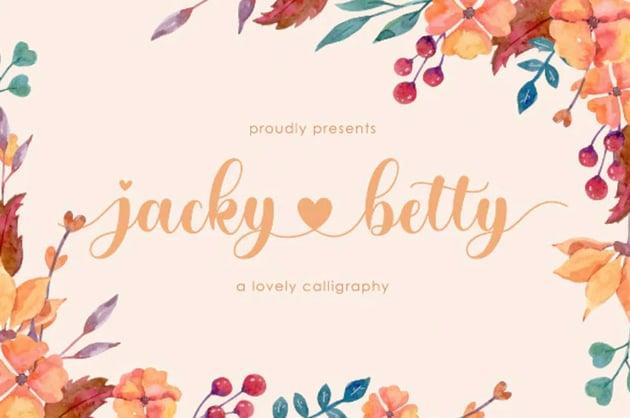 jacky betty | Lovely Calligraphy