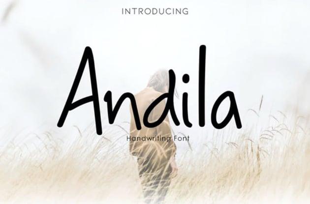 Andila Handwriting