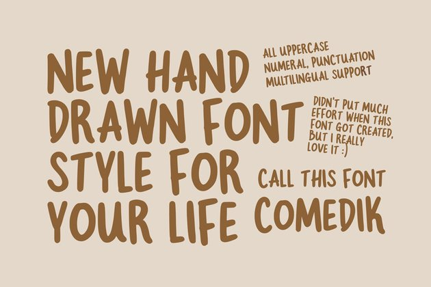 Comedik Hand-Drawn Playful