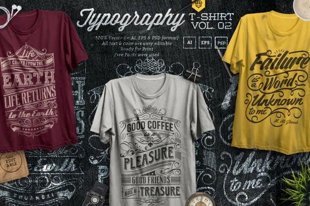 Typographic Affinity Designer T Shirt Template Designs