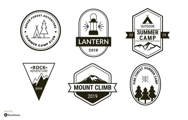 Set of Affinity Designer Logo Templates