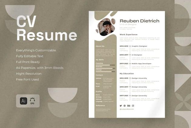 Stylish Affinity Designer Resume Template