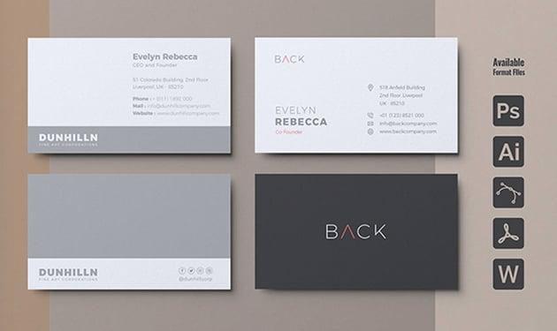 Minimalist Affinity Designer Business Card Template