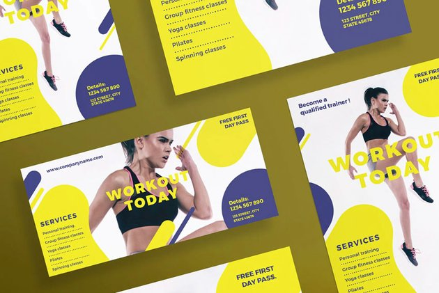 Workout Flyer and Poster template