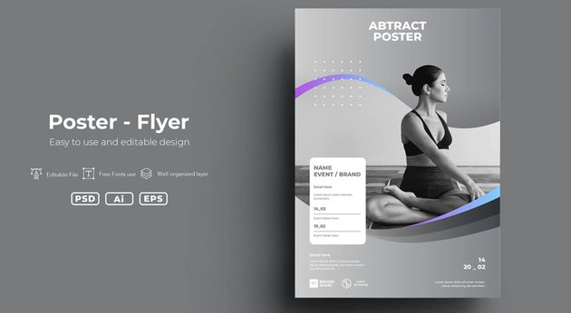 Abstract Affinity Designer Poster Templates