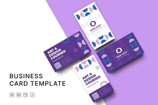 Purple Affinity Designer Business Card Template