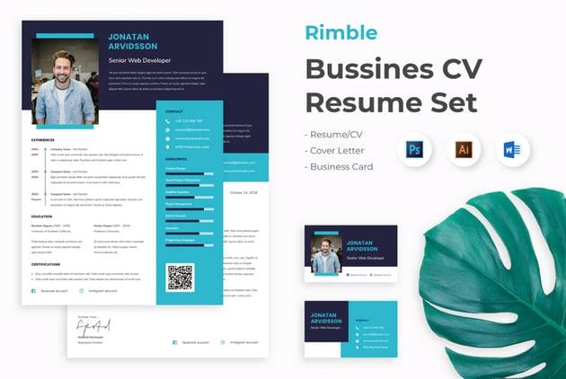 microsoft word resume set