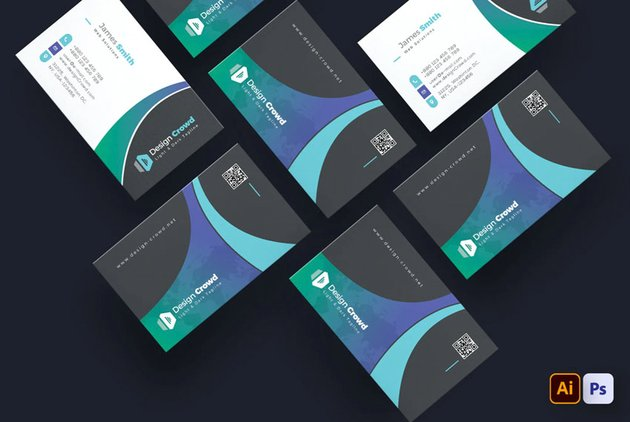 high contrast business card