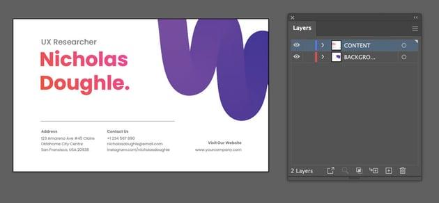 illustrator business card template