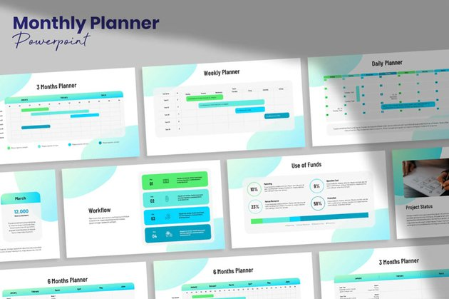 Monthly Planner Template powerpoint