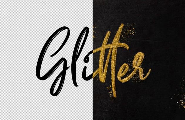 Fancy Glitter Text Effect