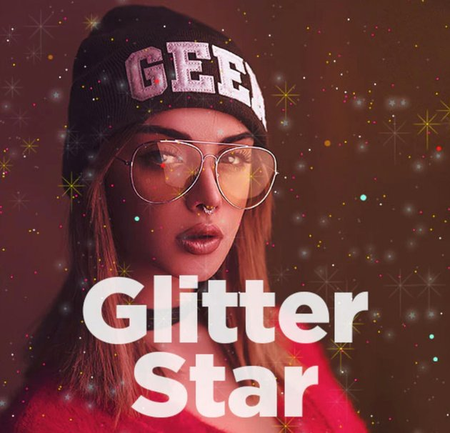Glitter Star Photoshop Action