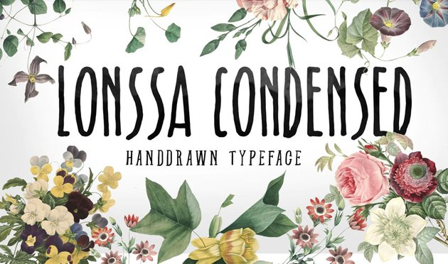 Lonssa Condensed Typeface