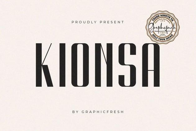 Kionsa - An Ultra Condensed Font