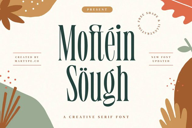 Moftein Sough - Display Font + Bonus