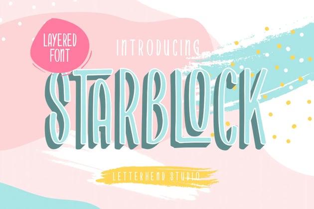 Starblock Font